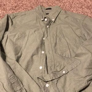 Jcrew oxford green button down